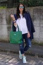 Guess bag - H&M coat - Zara jeans - Converse sneakers