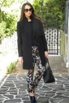 Sisley coat - united colors of benetton blouse - Zara pants