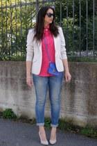 H&M blazer - united colors of benetton shirt - Zara bag