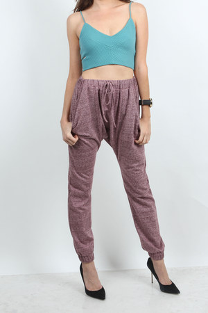 cropped v-neck very J top - very J pants