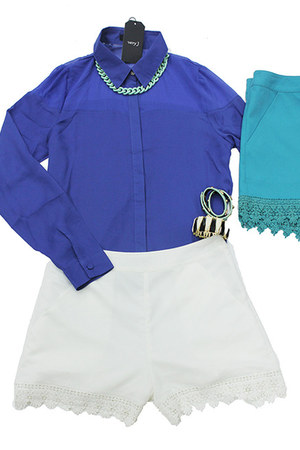 button down top very J blouse - very J shorts