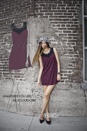 maroon vd30346 very J dress