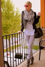 Heather-gray-report-boots-black-motorcycle-silence-noise-jacket