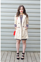 neutral trench coat Jacob coat - navy stripes Michael Kors dress