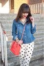 White-polka-dot-forever-21-jeans-blue-denim-forever-21-shirt