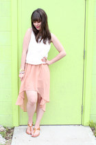 light pink mullet Forever 21 skirt - neon Target bag