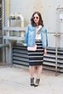 Black-shoes-sky-blue-denim-oversized-zara-jacket-light-pink-cross-body-purse
