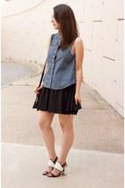 black floral print 31 Phillip Lim bag - navy denim rag & bone shirt