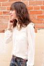 Navy-floral-print-zara-jeans-ivory-forever-21-blouse