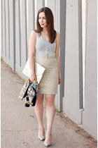 heather gray body con rachel rachel roy dress - hologram melie bianco bag