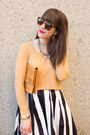 Nude-vintage-ysl-bag-white-stripes-asos-skirt-nude-cap-toe-zara-pumps
