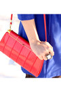 Red-vintage-bag-blue-zara-dress-red-headband-forever-21-accessories