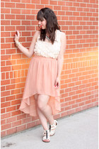 pink Forever 21 skirt - neutral Forever 21 top - white sam edelman sandals