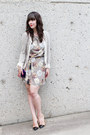 Heather-gray-loft-82-dress-heather-gray-zara-blazer-nude-zara-pumps