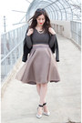 Black-leather-zara-jacket-light-pink-trisha-pasnak-skirt