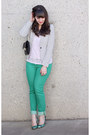 Turquoise-blue-winners-jeans-white-h-m-blazer-turquoise-blue-zara-heels