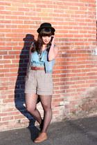 brown Forever 21 boots - black Forever 21 hat - black shop mamie bag