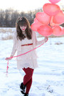 Light-pink-h-m-dress-ruby-red-forever-21-tights-light-pink-h-m-cardigan