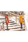 Burnt-orange-h-m-dress-mustard-h-m-dress