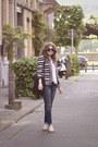Blue-7-for-all-mankind-jeans-black-fringe-detail-bershka-jacket