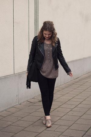 black skinny Topshop jeans - tan snake print asos boots