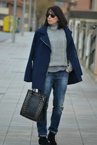 Menthashop sweater - Shana coat - pull&bear jeans