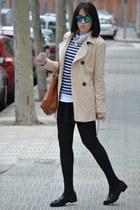pull&bear sweater - Stradivarius coat - PERSUNMALL skirt