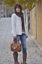 Stradivarius coat - suiteblanco jeans - Zara sweater - Sfera scarf