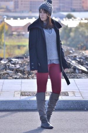 Coolway boots - Stradivarius coat - suiteblanco jeans - Bershka jumper