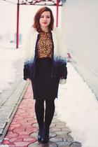black Rita and Phill skirt - ivory Sheinside coat - bronze DressLink blouse