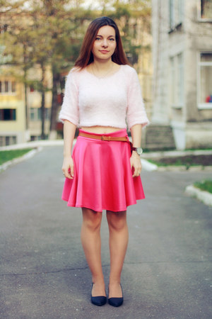 hot pink Miss Luxe skirt - light pink Miss Luxe jumper - black Choies heels