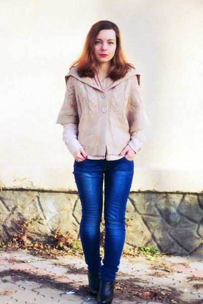 nude cotton Terranova blouse