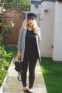 Black-asos-hat-heather-gray-miss-selfridge-blazer