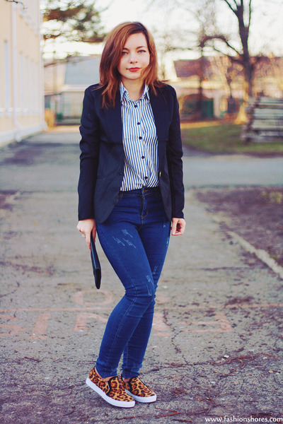 blue sammydress jeans - black Newdress blazer - ivory Newdress shirt