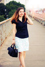 Black-zara-bag-black-cotton-united-colors-of-benetton-blouse