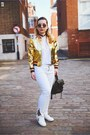 White-mango-jeans-gold-light-in-the-box-jacket-white-zara-top