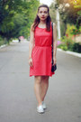 Coral-tezenis-dress-silver-quiz-clothing-sneakers