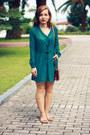 Green-dresslink-dress-tawny-maxwell-scott-bag