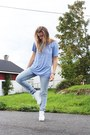 White-roots-shoes-light-blue-cubus-jeans-light-blue-cotton-dressmann-t-shirt