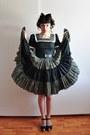 Vintage-dress-black-swedish-hasbeens-clogs