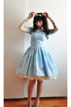 baby blue 50s vintage dress - petticoat Hellbunny skirt