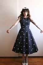 50s polkadot vintage dress