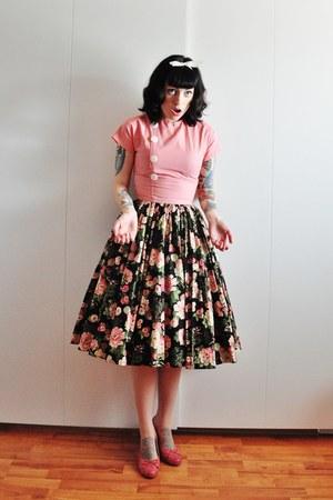 50s cotton vintage dress - leather caprice pumps