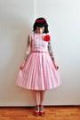 60s-vintage-dress-swedish-hasbeens-clogs
