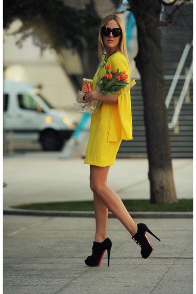 Zara dress - Kzeniya bag - Christian Louboutin heels