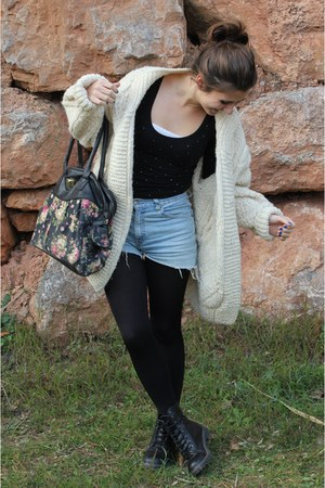 black Coolway boots - Levis jeans - black Calzedonia tights