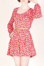 red bird print Ark & Co dress