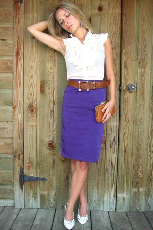 le chateau skirt - Seduction blouse - vintage belt