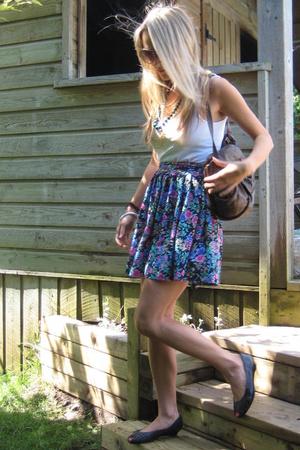 vintage skirt - banana republic top - vintage shoes - vintage