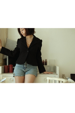 jacket - shorts - necklace